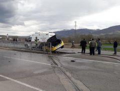 Sivas'ta trafik kazasında bir kişi yanarak can verdi
