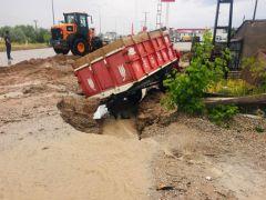 Kangal'da sağanak yağış hasara yol açtı